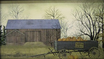 Pumpkin Wagon Canvas Print