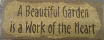 A Beautiful Garden Sign