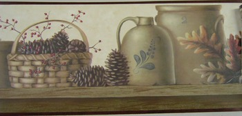 Stoneware And Pinecone Border