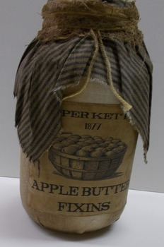Apple Butter Jar Blue