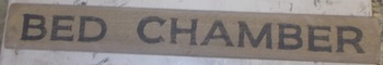 Bed Chamber Sign