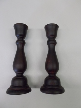 Black Primitive candle sticks