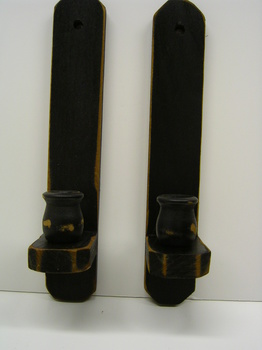 Black Wood Sconces