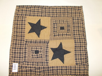 Black star quilt square