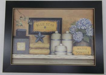 Blue star Bath print