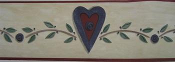 Small Heart  Vine Border