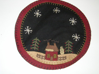 Large House Candle Mat