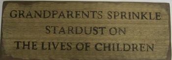 Grandparents Sprinkle  Stardust Sign