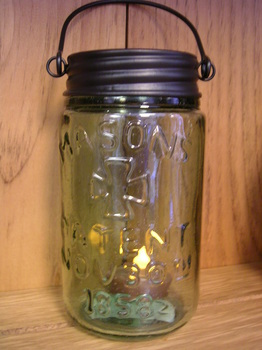 Hanging Jar Tealight Holder
