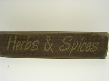 Herbs & Spices Sign