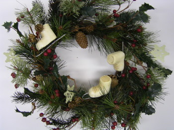 Ice Skate Pine Wreath
