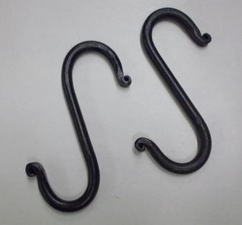 Iron S hooks