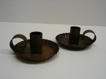 Rusty Tin Taper Holders
