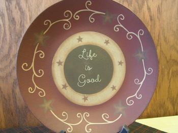 Life Is Good Plate