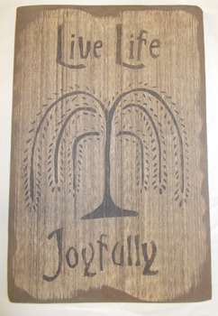 Live Life Joyfully SIGN