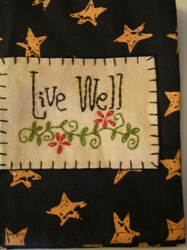 Live Well Tea Towel