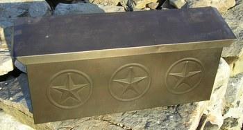 Hammered Tin Mail Box