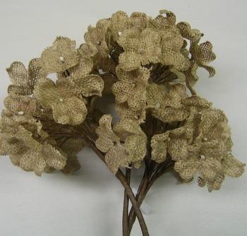 Natural burlap flowers