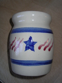 patriotic spoon jar