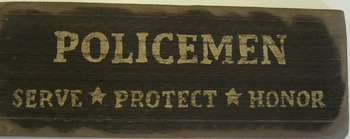 Policemen Sign