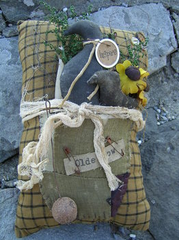 Old Crow Pillow