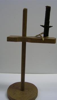 Prim  Arm Candle Holder