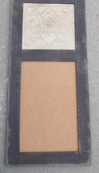 Punched Tin Cork Board