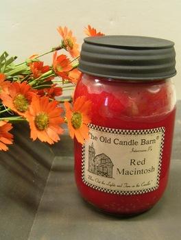 Red Macintosh Candle Jar