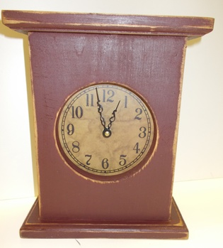 Barn Red Mantle clock