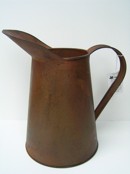 Rusty Tin Coffee Pitcher