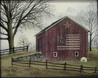 Flag Barn Canvas Print
