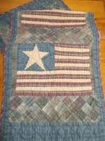 Primitive quilted Flag Runner