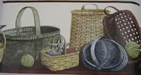 Country Basket Wall Border