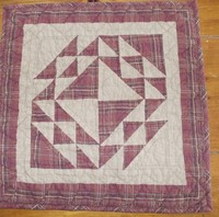 Country Red Quilt Square
