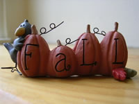 Fall Blocks Pumpkin/Crow