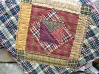 Red Navy Quilt Square