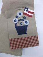 patriotic FlowerTowel