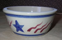 patriotic pottery bowl