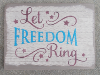 Let freedom ring rect saign