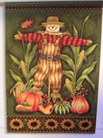 Sunflower Scarecrow Garden Flag