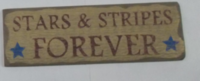 stars stripes forever sign