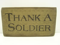 Thank A Soldier Sign