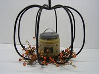 Iron Pumpkin Candle Holder