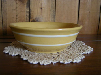 Yellow Ware Cereal Bowl