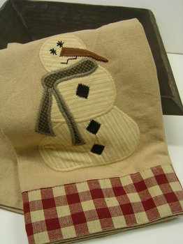 Warm Cozy Towel Snowman