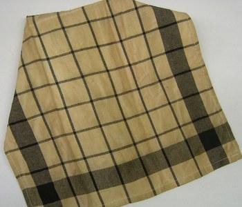 Black plaid teadyed towel