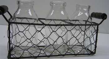 Glass Bottle Caddy Mesh