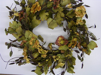 Tuscan Poppy Wreath Small