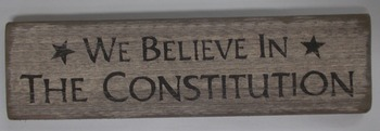 We believe constitution sign