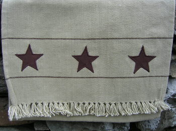 Chocolate Star Table Runner